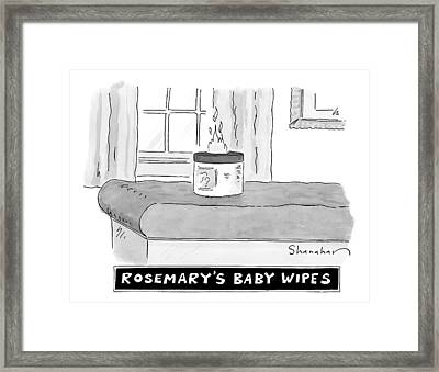A Carton Of Babywipes On A Changing Table Spews Framed Print by Danny Shanahan