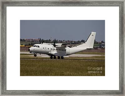 A Casa Cn-235 Aircraft Under Contract Framed Print by Timm Ziegenthaler
