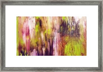 A Cascade Of Hues Framed Print by Jagjeet Kaur