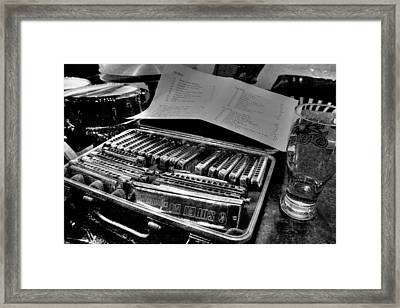 A Case Of The Blues Framed Print by Ric Potvin