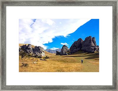 Framed Print featuring the photograph A Castle Hill Walk by Stuart Litoff