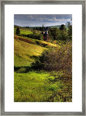 A Castle In The Landscape Framed Print