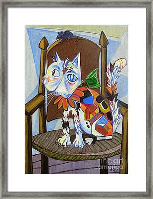 A Cat For Picasso_ Chat Et Souris Framed Print