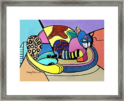 A Cat Named Picasso Framed Print by Anthony Falbo
