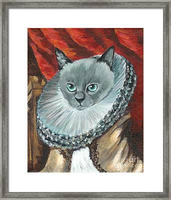 Framed Print featuring the painting A Cat Of Peter Paul Rubens Style by Jingfen Hwu