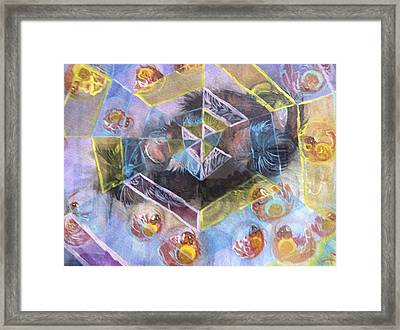 A Cat's Dream Framed Print