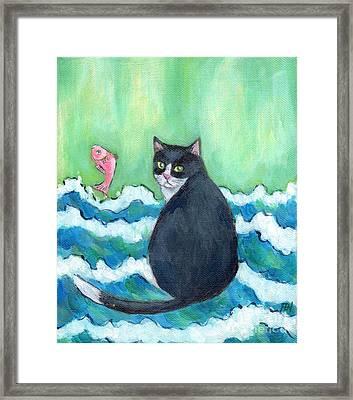 A Cat's Dream Interior Design Framed Print