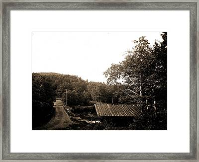 A Catskill Mountain Toll Gate, Toll Roads Framed Print