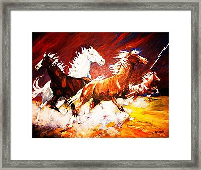 Framed Print featuring the painting A Cause For Alarm by Al Brown