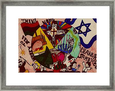 A Celebration Of Winter Holidays Framed Print by Allyson Andrews