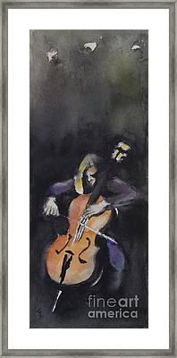 A Cellist Framed Print