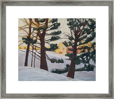 Framed Print featuring the pastel A Certain Slant Of Light by Grace Keown