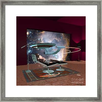 A Cgi Artist Dreams Framed Print