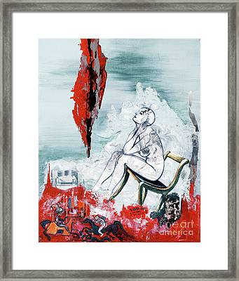 A Chair For My Heart Please - Thank You. Framed Print by Elisabeta Hermann