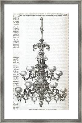 A Chandelier Framed Print by British Library