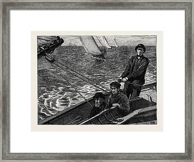A Channel Race To Boulogne, The Owner, Skipper Framed Print