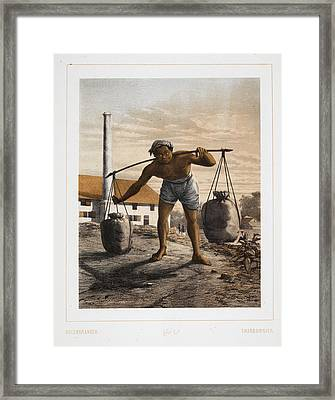 A Charcoal Burner Framed Print by British Library