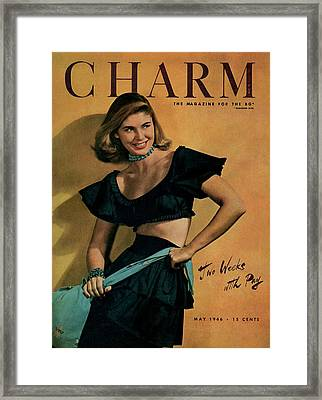 A Charm Cover Of A Model Wearing A Rhumba Top Framed Print by Jon Abbot