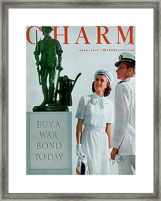 A Charm Cover Of The Concord Minute Man Framed Print by Farkas