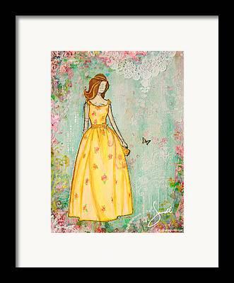 Vintage Dress Framed Prints