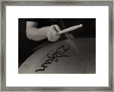 A Cherished National Cymbal Framed Print