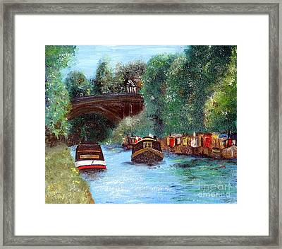 A Cheshire Canal Remembered Framed Print by Isabella F Abbie Shores FRSA