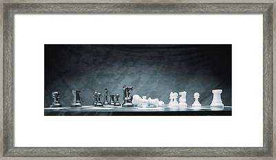 A Chess Game Framed Print by Don Hammond