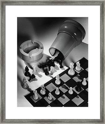 A Chess Set Framed Print by Maurice Seymour