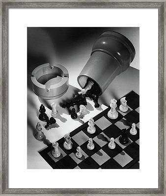 A Chess Set Framed Print
