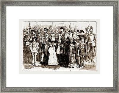 A Chess Tournament With Living Pieces At Brighton Framed Print by Litz Collection