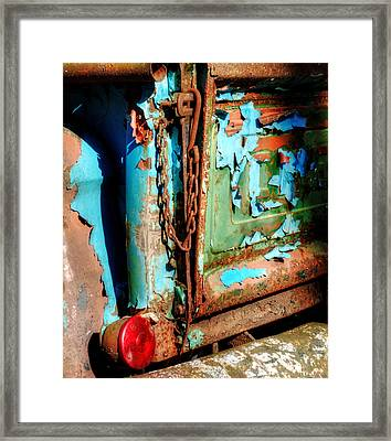 A Chevy Tailgate Framed Print