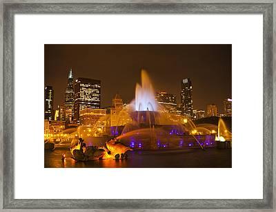 A Chicago Twilight Framed Print by Andrew Soundarajan