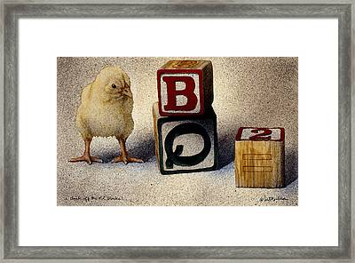 A Chick Off The Old Blocks... Framed Print