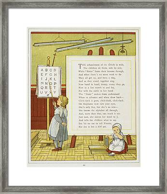 A Child Learning The Alphabet Framed Print by British Library
