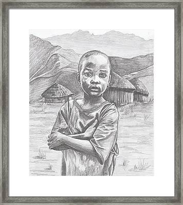A Child Of Africa Framed Print