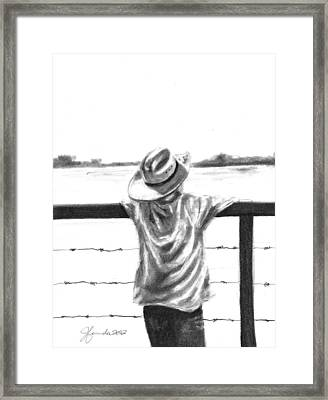 A Child On A Farm Framed Print by J Ferwerda