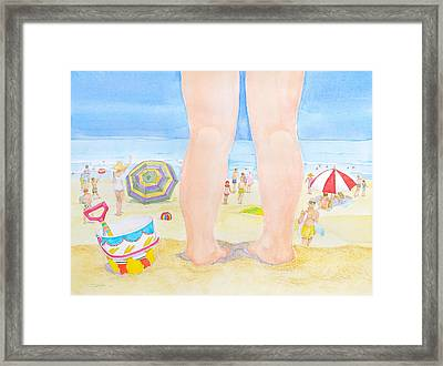 A Child Remembers The Beach Framed Print by Michele Myers