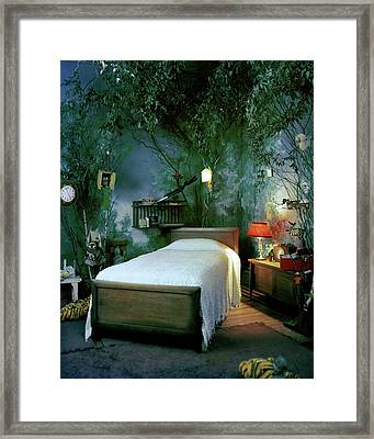 A Child's Bedroom Designed By William Riva Framed Print