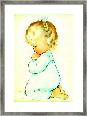 A Childs Prayer Framed Print