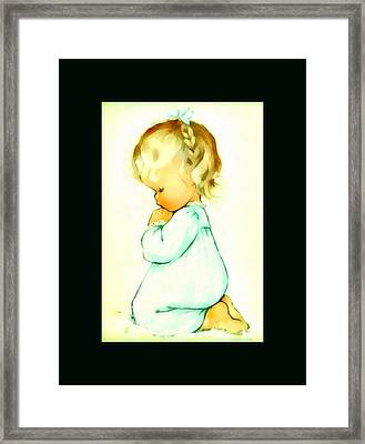 A Childs Prayer Duvet Framed Print