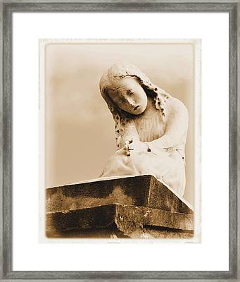 Framed Print featuring the photograph A Child's Prayer by Nadalyn Larsen