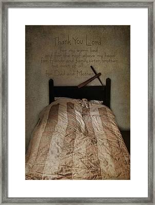 A Child's Prayer Framed Print by Robin-Lee Vieira