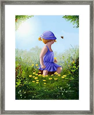 A Child's Thoughts Framed Print