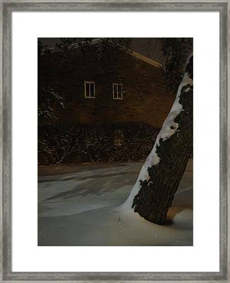 A Chill Outside The Windows Framed Print by Guy Ricketts