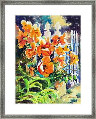 A Choir Of Poppies Framed Print