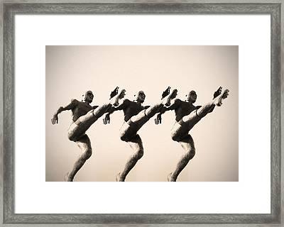A Chorus Line Framed Print by Bill Cannon