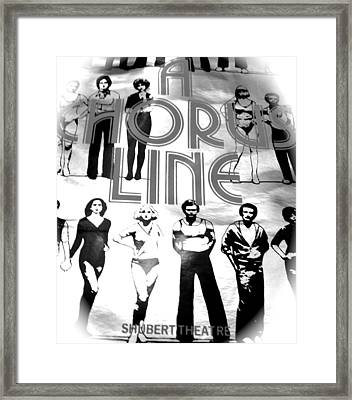 A Chorus Line Vintage Bw II Framed Print by Toni Ryder