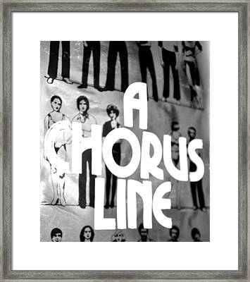 A Chorus Line Vintage Bw Framed Print by Toni Ryder