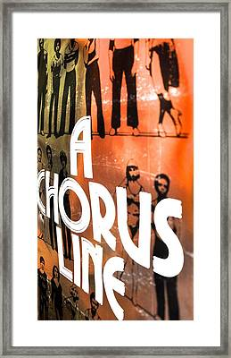 A Chorus Line Vintage II Framed Print by Toni Ryder