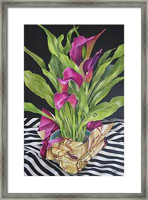 A Chorus Of Lillies Framed Print by Cheryl Bannister